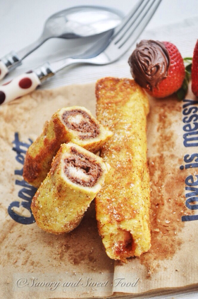 French Toast Roll-ups | Savory and Sweet Food